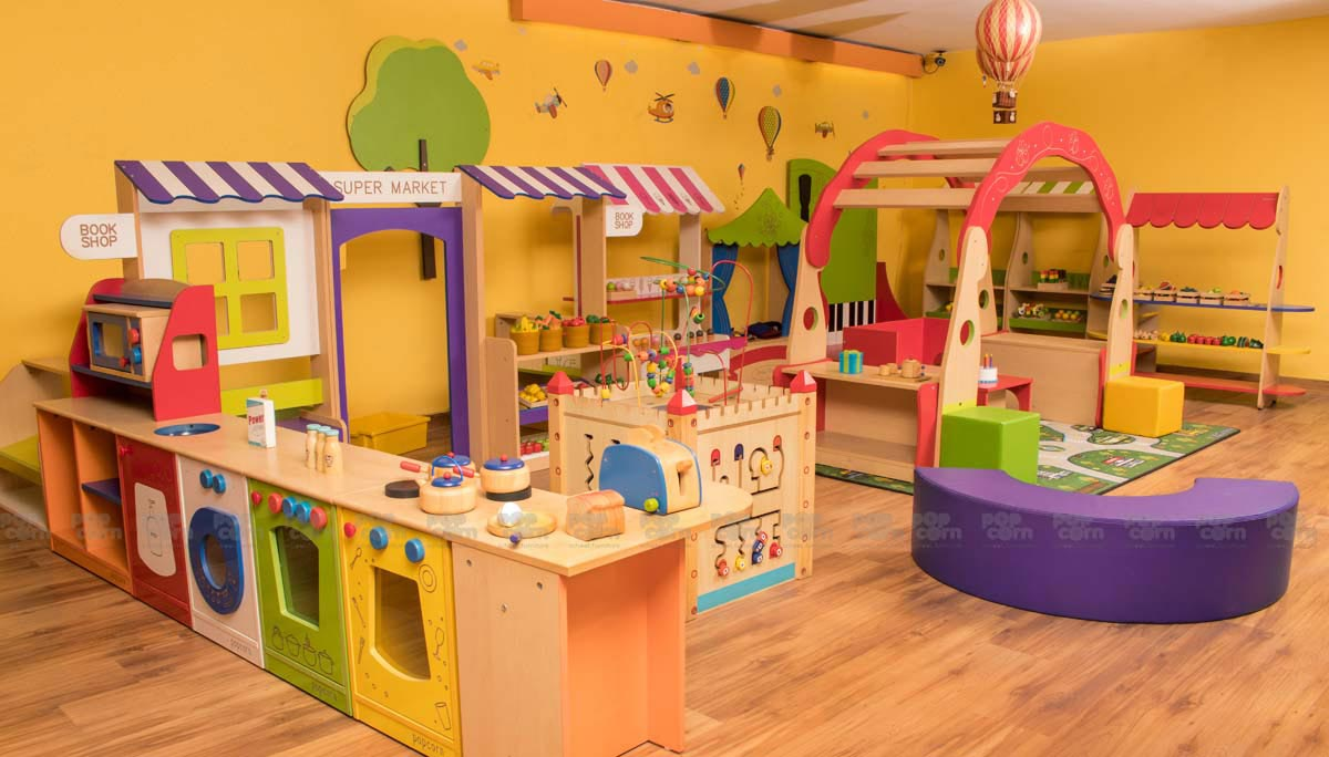 Activity Room kitchen, supermarket, Doll house, Puppetry, Role play