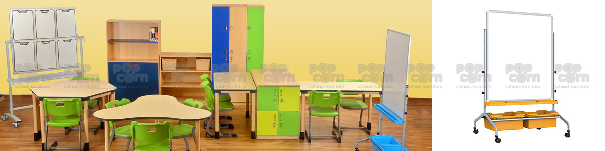 collabrative seating/Mobile Board&Bins
