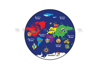 world map carpet