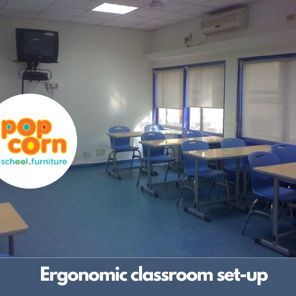 Ergonomic classroom set-up